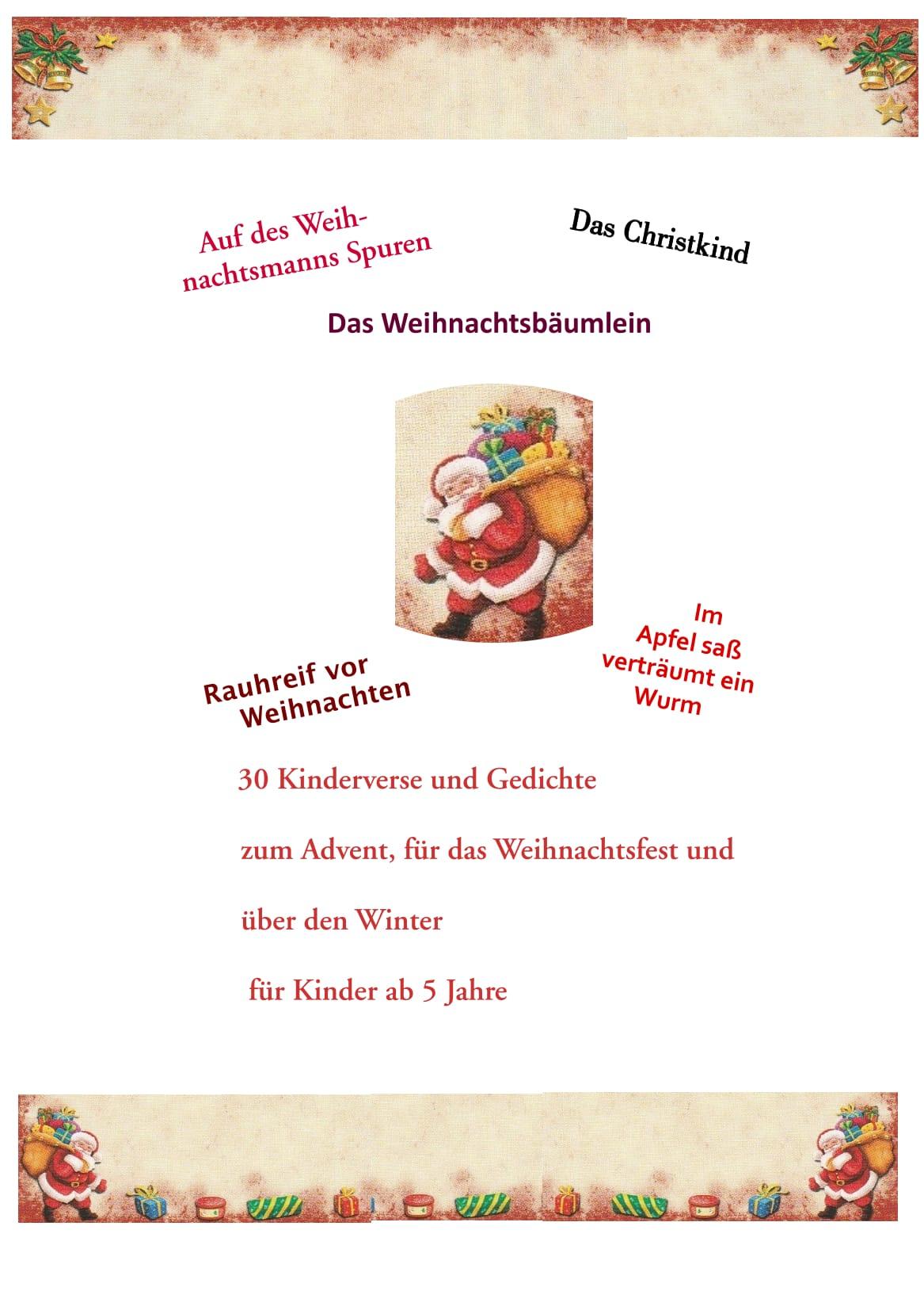 Winter Und Weihnachtsgedichte.Weihnachtsgedichte Für Kinder